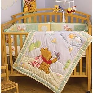 Winnie The Pooh Like A Cloud 3 Piece Crib Bedding Set