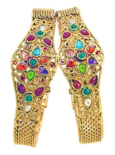 Be You Gold Plated Polki style Kada Set (yellow)