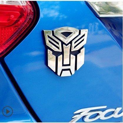 Jackey Awesome Transformers Autobot Car Chrome Badge