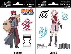 """NARUTO SHIPPUDEN - Mini Sticker Set (6.4 X 4.4) """" Gaara / Sakura """""""