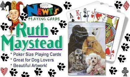 Best Friends Playing Cards, by Ruth Maystead - Poodle - 1