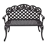 Best Choice Products® New Outdoor Patio Furniture Cast Aluminum Garden Bench