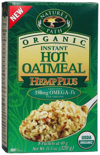 Nature's Path Organic Hemp Plus Instant Hot Oatmeal