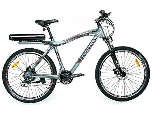 """Bicicletta Elettrica Montagna 26"""" Full aluminio, SHIMANO, doppio freno a disco, Batterìa Ion-Litio 36V 16Ah"""