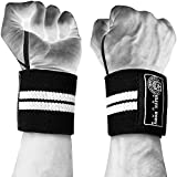 """Wrist Wraps ★ Heavy Duty Weight Lifting Wrist Support for Bodybuilding, Powerlifting, MMA + Exercise Classes. Boost Strength, Support Your Wrists + Lift More Weight with Our Highest Quality Wrist Wraps ★ Free Lifting Straps, Carry Bag and """"Mass Muscle in Minutes"""" Free Report"""