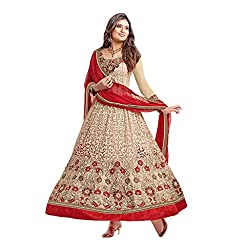 Krishna Present All New wedding Wear Embroidered Biege Color Dress Meterial.