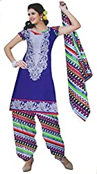 Parth Women's Cotton Unstitched Dress Material_1205_Multicolored_Freesize
