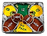 Green Bay Packer Football Hand Decorated Sugar Cookies