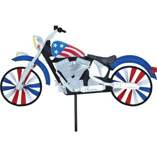 22 inch Patriotic Motorcycle Spinner