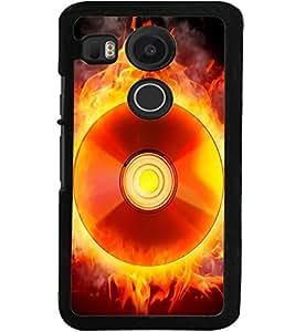 ColourCraft Flaming CD Design Back Case Cover for LG GOOGLE NEXUS 5X