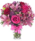 Rose & Lily Celebration Flowers - DELIVERY BY VALENTINE'S DAY GUARANTEED