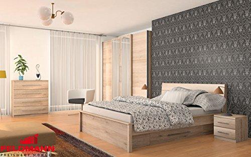 Schlafzimmer komplett 215373 4-teilig san remo eiche hell günstig kaufen