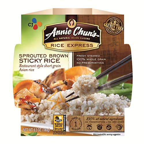 Annie Chun'S Rice Express Sprouted Brown Rice, 6.3-Ounce Microwavable Bowls (Pack Of 6)