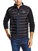 Hackett London Chaqueta Amr Nylon Quilt (Negro)