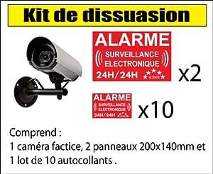 Kit caméra de vidéo surveillance de dissuasion