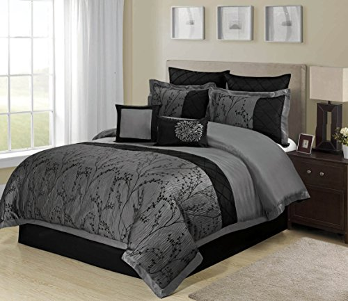 8 Piece Weistera Jacquard Tree Branches Comforter Sets