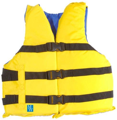 MW Youth 3-Buckle Nylon Life Jacket Vest - Yellow