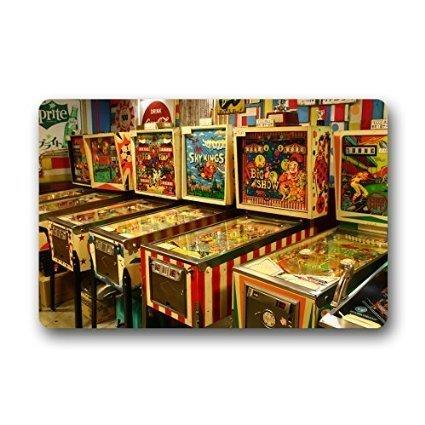 Custom Funny Pinball Game Decor Rug Decorative Doormat Indoor/Outdoor Doormat 23.6
