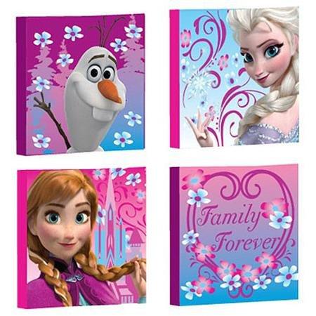 Disney Frozen Canvas Wall Art, 4-Pack disney minnie mouse canvas wall art 4 piece