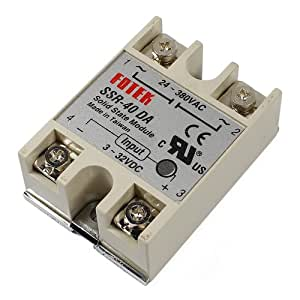 Lerway 40A SSR Solid State Relay SSR-40DA 3-32V DC tO 24-380V AC