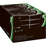 Rain Sugar Free Gum, 15-Piece Packages (Pack of 10)