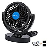 Car Fan for Truck 12V Cooling Fan Protable Auto Fan 360 Rotating Low Noise for Most Vehicles