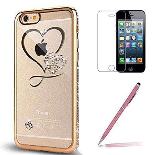 iphone-se-5-5s-case-with-tempered-glass-screen-protector-yooweir-glitter-bling-crystal-rhinestone-di