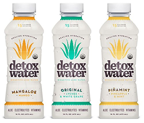 detoxwaterTM Bioactive Aloe Water Sampler Pack 16 Fluid Ounces, Pack of 6 (Detox Water compare prices)