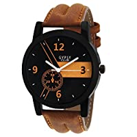 Gypsy Club Casual Analogue Tan Leather Strap Watch For Men & Boys -GC175