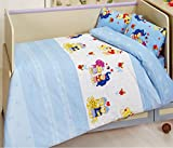 Clase Baby Happy Juego de funda nórdica (100x 150cm), color azul