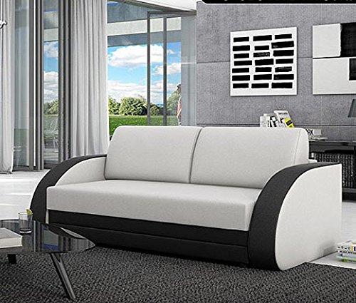 Muebles Bonitos - Sofá cama nasel blanco con negro