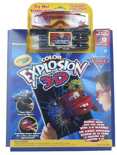 Imagen principal de Crayola - 12660 - Ocio Creativo - Explosión de Color Pack 3D - Cars 2 [Importado de Francia]