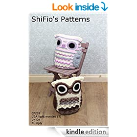 Crochet Pattern - CP235 -  Owl Cushion -  USA Terminology