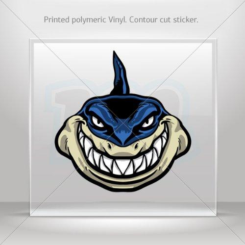 Stickers Decal Blue Shark Attacks Car Door Hobbies Sports Car Durable Racing Motorbikes 0500 Xr486 front-353613