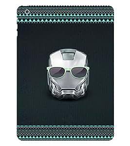 Fuson 3D Printed Skull Designer back case cover for Apple iPad 6 - D4175