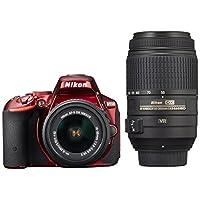 Nikon デジタル一眼レフカメラ D5500 ダブルズームキット レッド 2416万画素 3.2型液晶 タッチパネル D5500WZRD