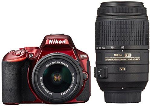 Nikon デジタル一眼レフカメラ D5500 ダブルズームキット レッド ...