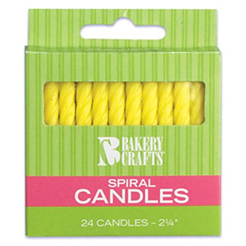Oasis Supply Spiral Birthday Candles, 2.25-Inch, Yellow - 1