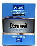 Dermasil Night Cream, Oil-free Nightly Moisturizer 1.7 Oz (Pack of 3)