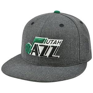 NBA Mitchell & Ness TX59 Heather Wool Utah Jazz Flat Bill Fitted Hat Cap by Mitchell & Ness