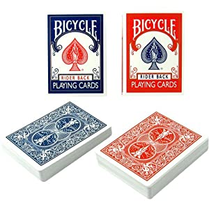 2 Decks Blue Bicycle Canasta with Points Playing Cards