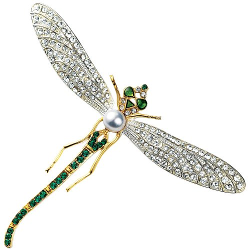Dragonfly Brooch Swarovski Crystal Version of