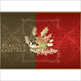 """Christmas Holiday Greeting Card H1005. Wish """"every happiness this Holiday Season"""". For personal or business use; gold foil-lined envelopes."""