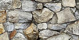 Silver Medley Rock / HD Stone Aquarium Background 36 by 21-Inch / Rocky Fish Tank Background