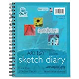"""Pacon 4794 Art1st Sketch Diary, 8.5"""" x 11"""", 70 Sheets"""