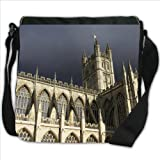 Majestic Bath Abbey in Bath Somerset England Small Denim Shoulder Bag / Handbag