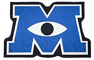 Character World Disney Monsters Inc University Shaped Rug, Multi-Color