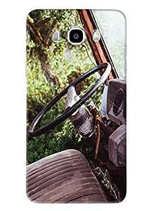 Blue Throat Old Car Steering Printed Designer Back Cover/Case For Samsung Galaxy J7 2016