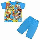 半袖パジャマ ベビー アンパンマン パジャマ 寝間着 お着替え練習 ブルー 90