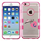 For iPhone 6 (4.7) Letter C Glassy Transparent Clear/Transparent Gummy Cover. (Pink-C)